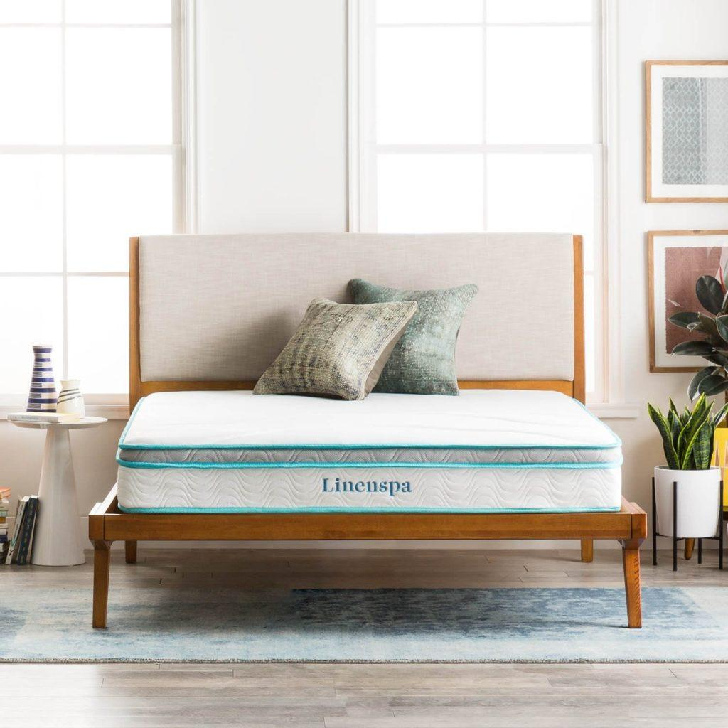 LinenSpa 8 Inch Memory Foam and Innerspring Hybrid best mattress under $500