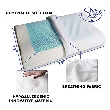 SaveSoft Gel Infused Cooling Pillow