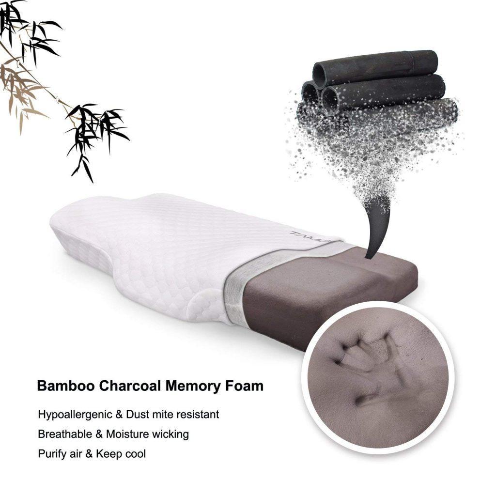 Tampor Bamboo Charcoal Memory Foam Pillow